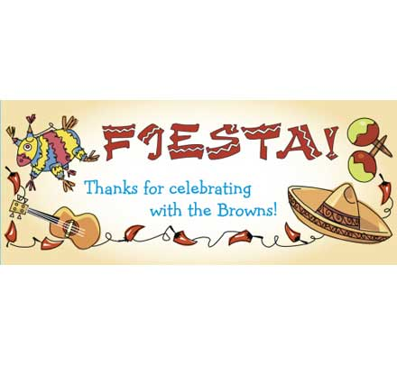 A Fiesta Theme Party Banner / Hang the pinata and the fiesta banner for your fiesta party!