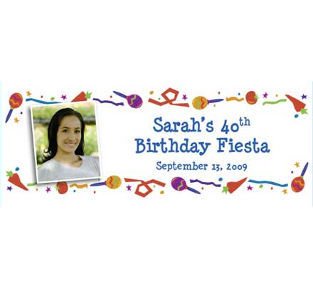 Fiesta Party Theme Banner / Great for a birthday fiesta party! Just add you picture!