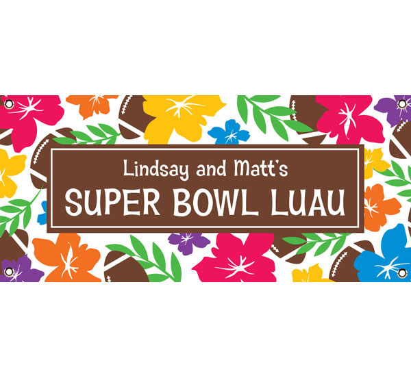 Super Bowl Luau Theme Banner