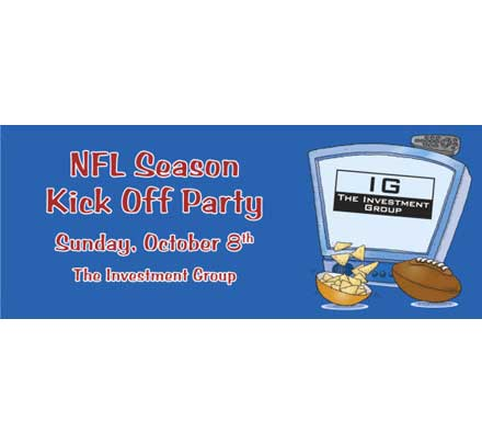 Football Kick Off Theme Banner