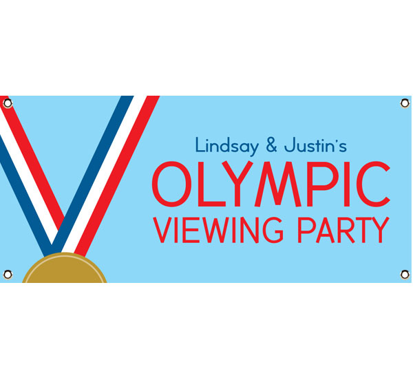 Gold Medal Theme Banner / Tell your guests where to party with an Olympic party banner.