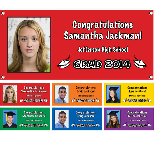 Graduation Color Choice Theme Banner / Personalize this graduation banner with your photo, wording and color!