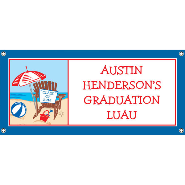 Luau Graduation Beach Theme Banner