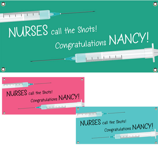 Graduation Nursing School Theme Banner / A fun welcome banner to celebrate a nursing school graduation