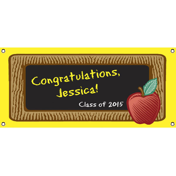 Graduation Party Blackboard Theme Banner