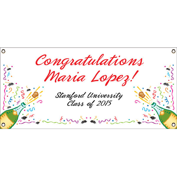 Graduation Champagne Theme Banner / Simple graduation banner for a simple graduation party!