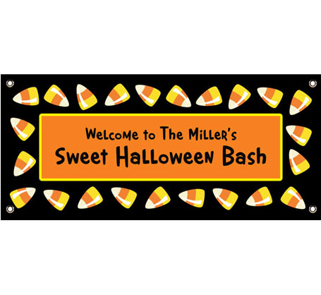 Halloween Sweet Candy Corn Theme Banner