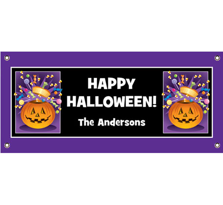 Halloween Pumpkin Fun Theme Banner