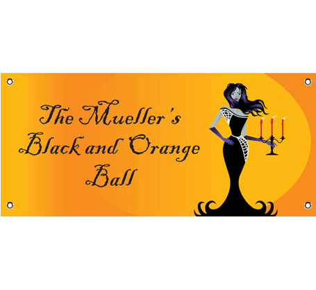 Halloween Ball Theme Banner / This black and orange banner is great for your Halloween ball