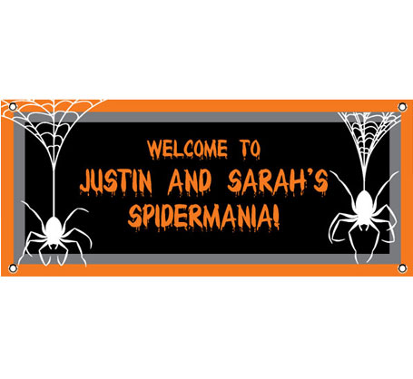 Halloween Spiders Theme Banner / These spiders will make your guests want to party
