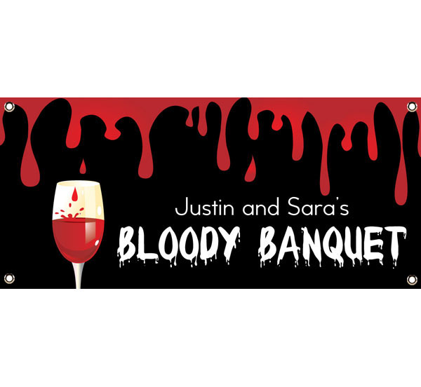 Halloween Bloody Banquet Theme Banner / Let your guests know it's a bloody banquet with this bloody banner.