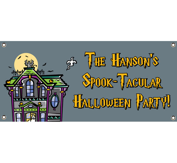 Halloween Spooky House Theme Banner