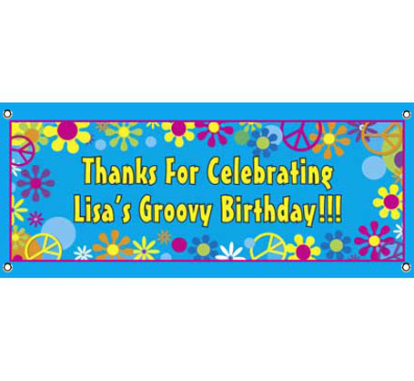 Hippie Retro Theme Banner / Groovy party? Groovy Banner!
