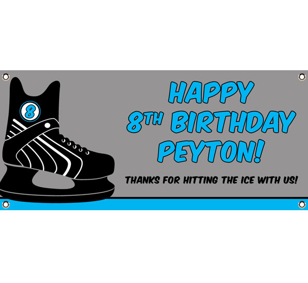 Hockey Theme Banner / Personalize this banner for your hockey theme party!