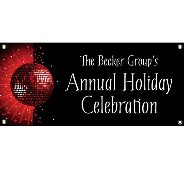 Holiday Party Theme Banner