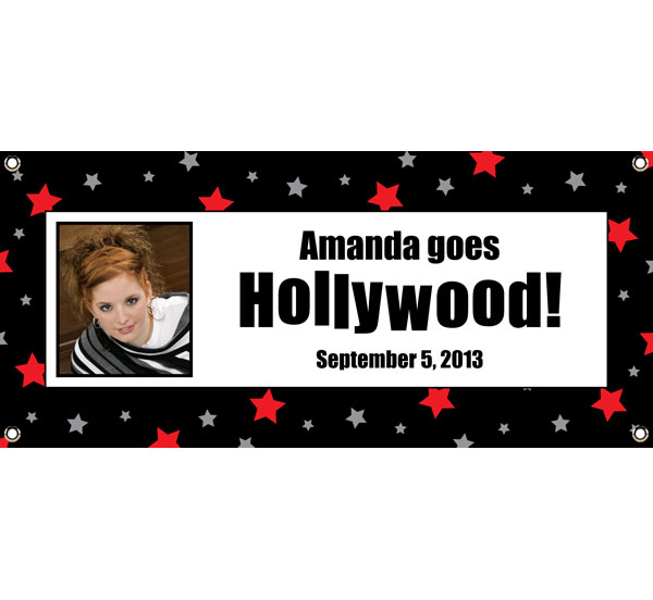 Hollywood Star Picture Banner / Star of the show banner at your Hollywood Party!