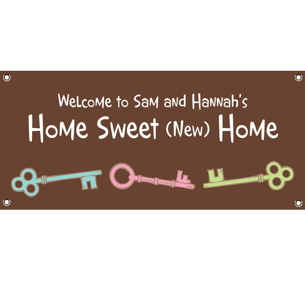 Housewarming Party Theme Banner / Welcome to our new home!