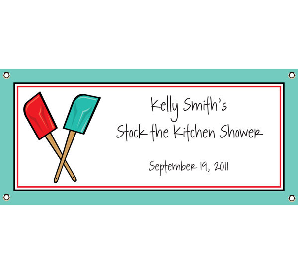 Bridal Shower Kitchen Theme Banner