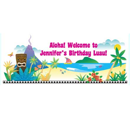 Luau Beach Theme Banner / Easy luau party decoration with a fun tiki theme!