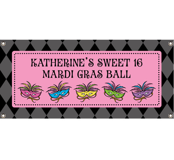 Mardi Gras Masks Theme Banner