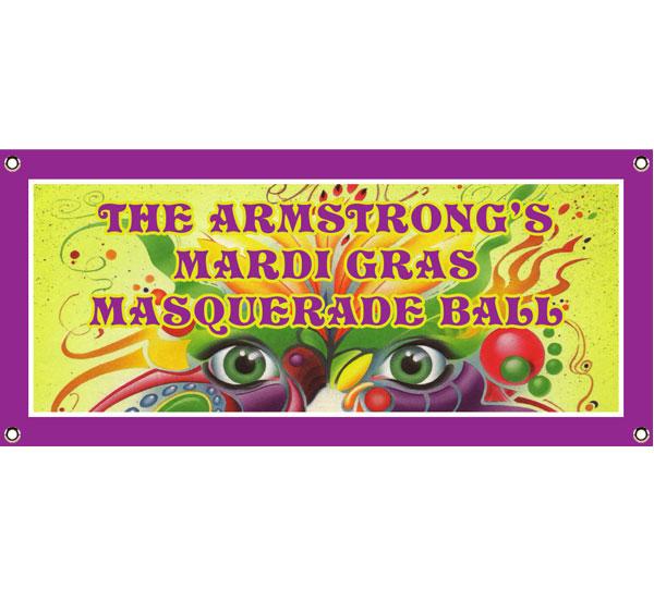 Mardi Gras Masquerade Theme Banner