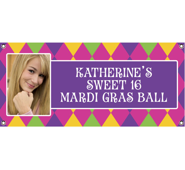 Mardi Gras Party Photo Theme Banner