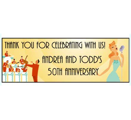 Big Band Theme Music Banner / Announce your Anniversary or 50s theme party with this era banner!