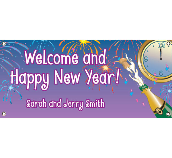 A New Years Eve Toast Theme Banner / This New Year's Eve Banner celebrates the New Year countdown!