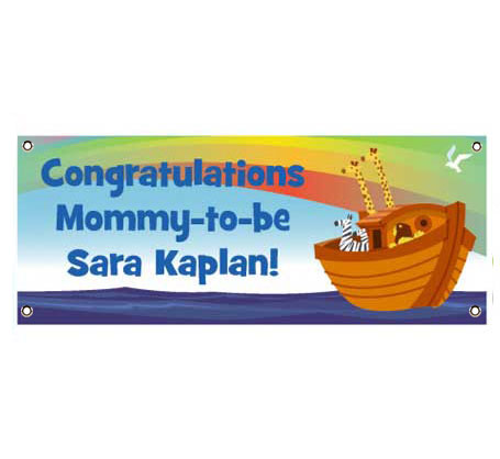 Noahs Ark Banner / Two by two, a perfect baby shower banner for twins!
