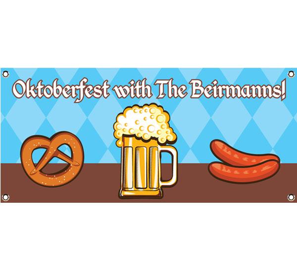 Oktoberfest Food Theme Banner