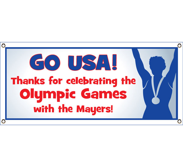 Olympics Theme Banner / Tell your guests where to party with this Olympic party banner.