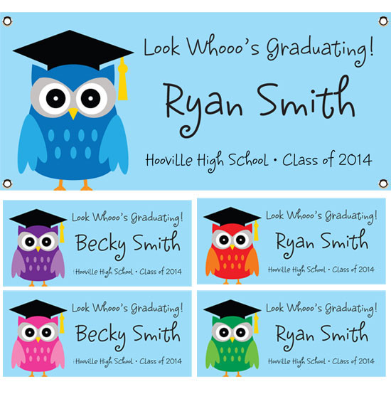Graduation Owl Theme Banner