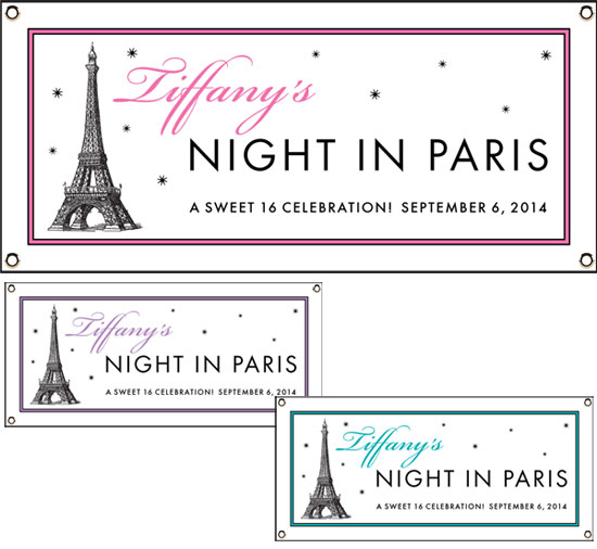 Paris Party Theme Banners