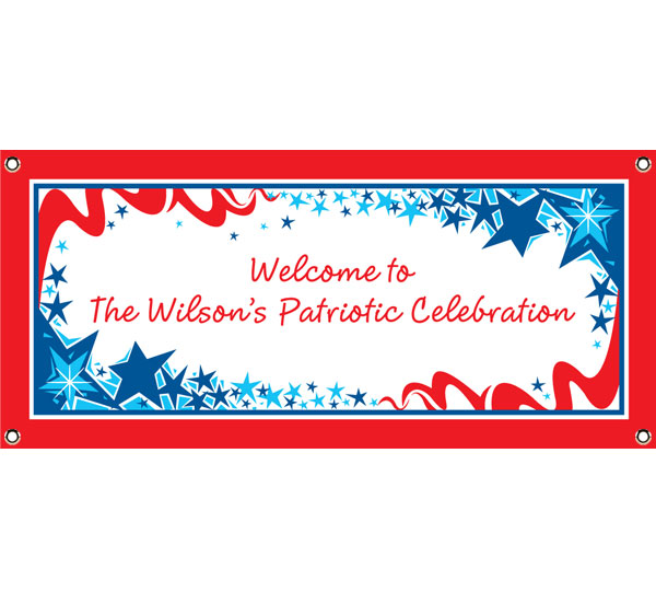 Patriotic Party Theme Banner