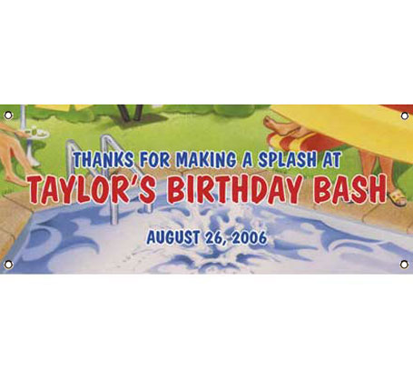Pool Party Theme Banner / Show your guests the way to the pool!