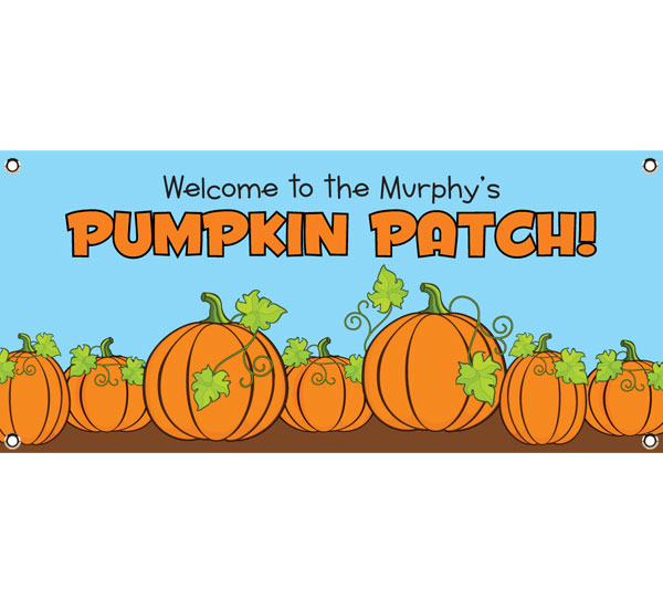 Pumpkin Party Theme Banner
