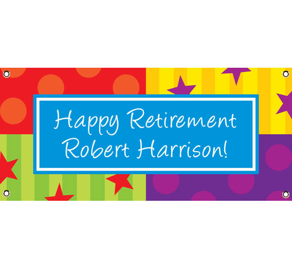 A Retirement Celebration Theme Banner