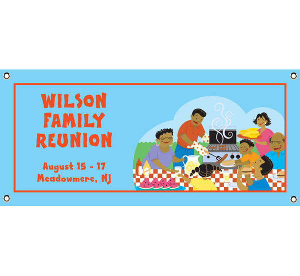 A Family Reunion Party Theme Banner
