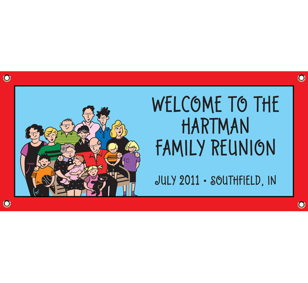 A Reunion Theme Party Banner