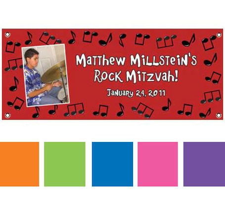 Rock n Roll Theme Banner / It's a rock and roll party with this rock music banner!