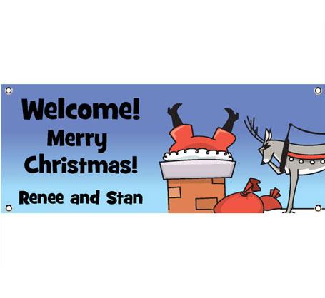 Christmas Santa Oops! Theme Banner