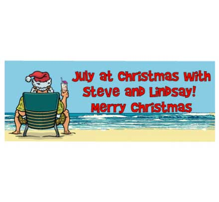 Christmas in July Theme Banner / This Santa beach banner is great for envisioning the warm weather.