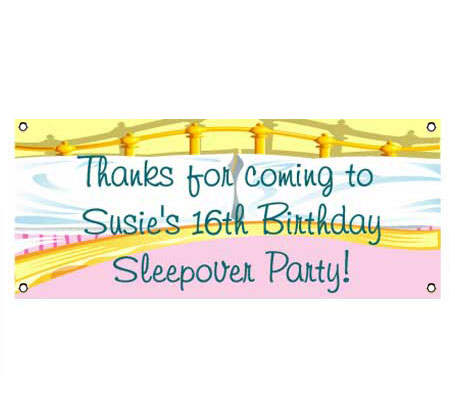 Sleepover Theme Banner / A more whimsical approach to a sleepover banner.