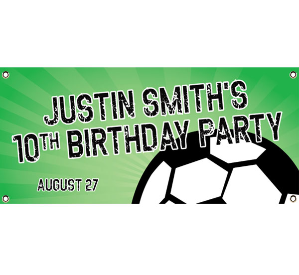Soccer Ball Party Theme Banner / Have fun. It's a good goal!