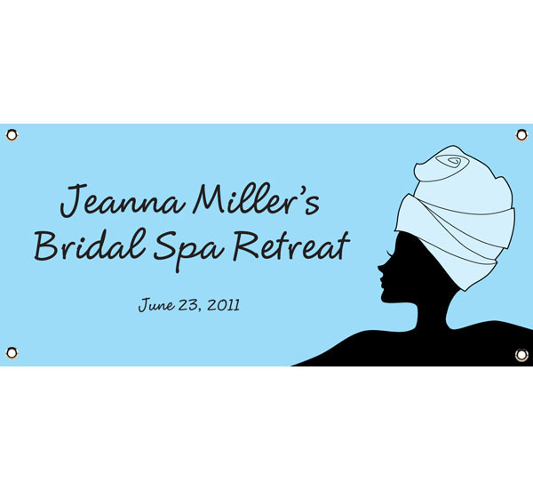 Bridal Spa Theme Banner / A relaxing welcome to a bridal spa!