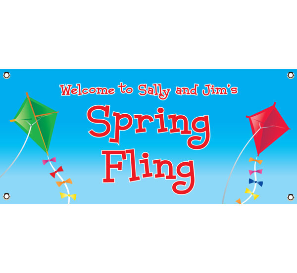 Flying Kites Theme Banner / Flying kites, what better way to celebrate spring than with this Spring Themed banner.
