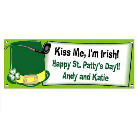 St. Patricks Day Derby Theme Banner / A leprechaun's hat for the perfect St. Pat's Day banner