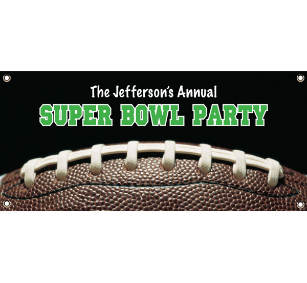 Football Party Theme Banner / This Super Bowl banner will be a winner for your football party