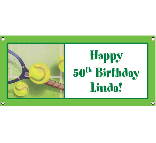 Tennis Party Theme Banner / Personalized this tennis theme banner for your party!