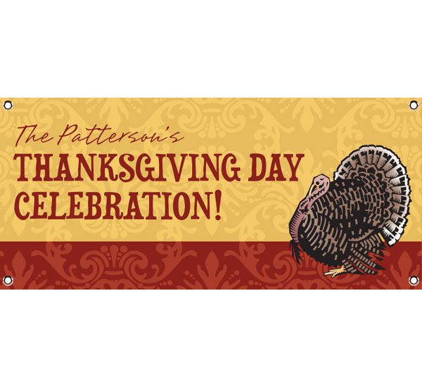Thanksgiving Turkey Theme Banner